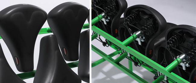 Скамейка из велосипедных седел