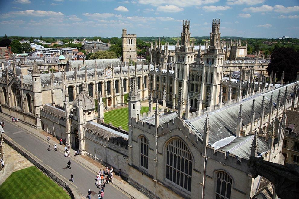 на велосипедах в Оксфорде