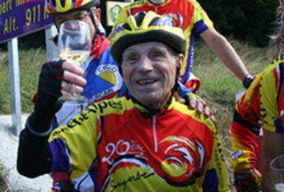 Французский старожил-велосипедист