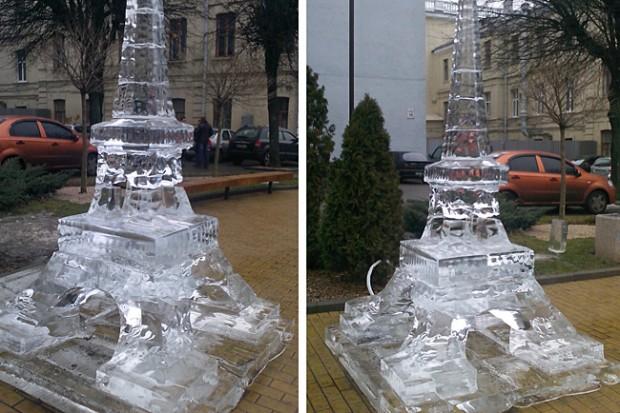 Винница зимой ледяные статуи