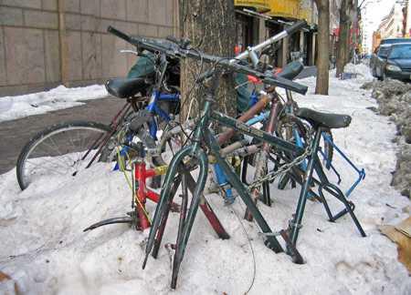 Как хранить велосипед зимой
