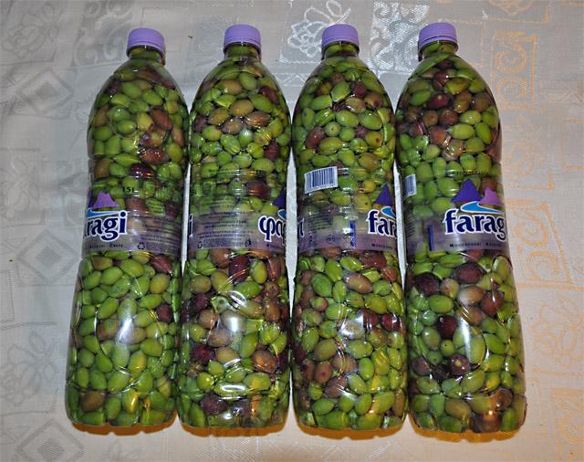 Оливки процесс вымачивания в бутылках
