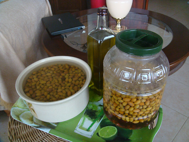 Оливки, процесс приготовления
