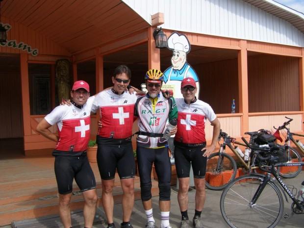 Олег Рябо и Швейцарские велосипедисты