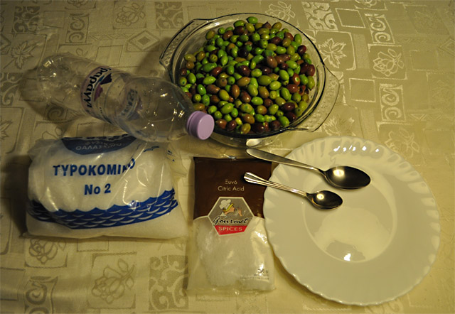 Оливки процесс вымачивания