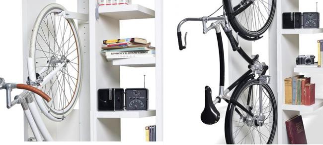 Велосипедная книжная полка