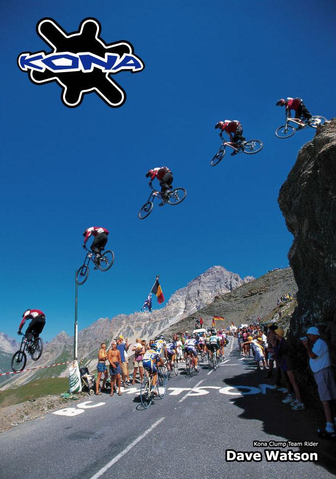 Велосипедные прыжки на Тур де франс