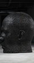 голова человека из велосипедной цепи