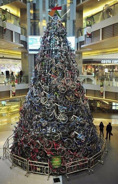 велосипедная елка