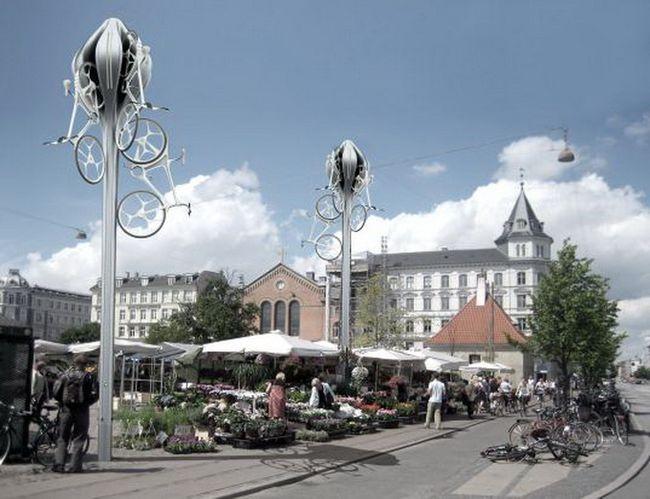 Копенгаген. Велосипедные станции от RAFAA