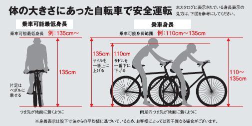 размеры велосипеда