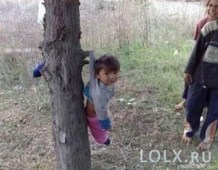 ребенок на дереве