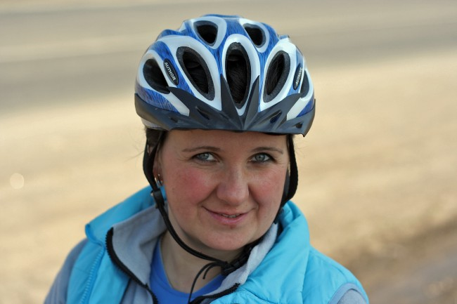 Велосипедистка Сабрина