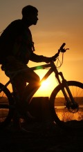 Велосипедные обои. Закат солнца
