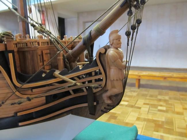 Модель корабля Святой Евстафий, масштаб 1 к 50