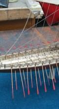модель боевого корабля в масштабе Греческая бирема вид сбоку