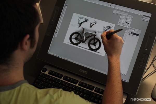 Opel Boomerang  велосипед рисование