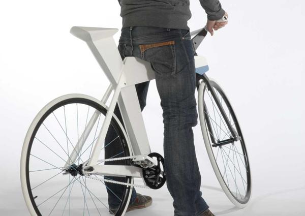 Оригами велосипед от дизайнера Морица Менахера
