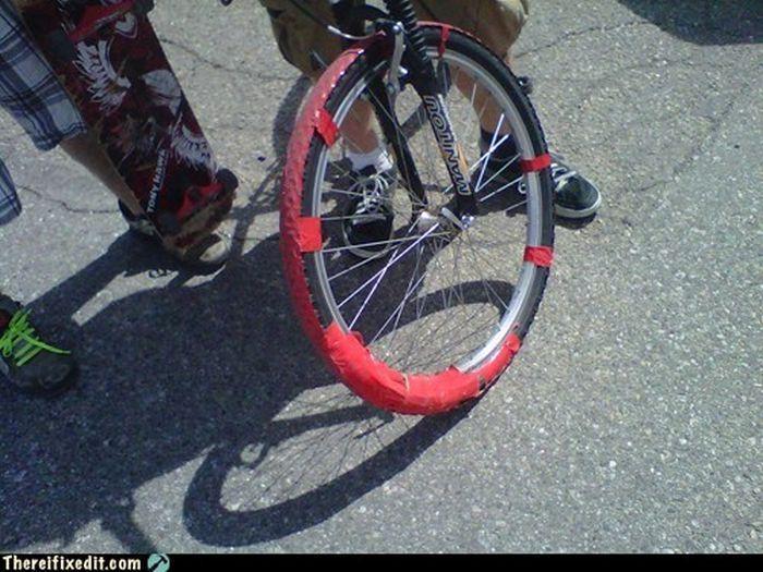 велосипед отремонтировали