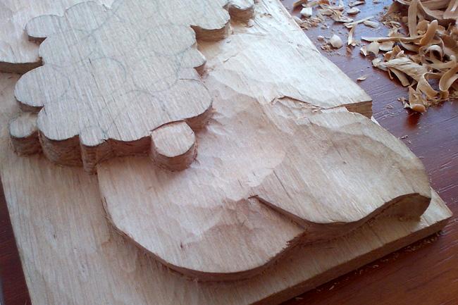 Резьба по дереву, процесс