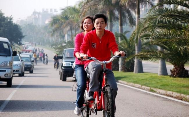 Китайцы на велосипеде