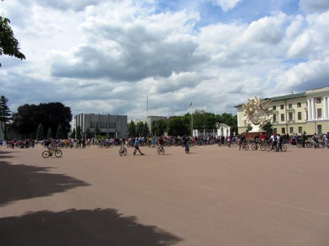 Всеукраинский велодень 2012. Khmelnitsky. Финиш
