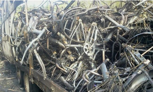 сгоревшие велосипеды