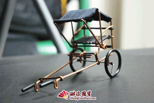 повозка для рикши из проволоки