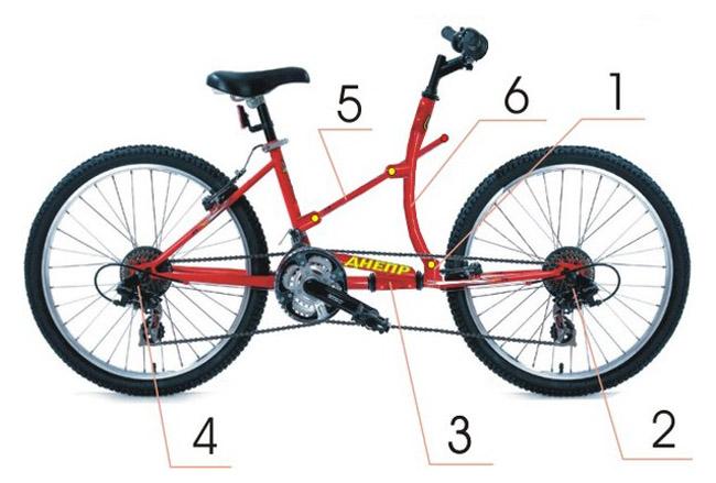 Полноприводный велосипед