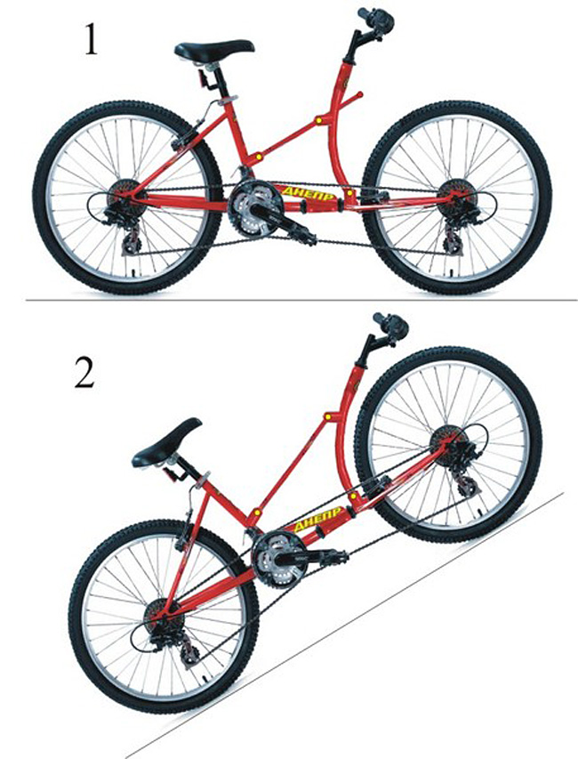 полноприводный велосипед Днепр