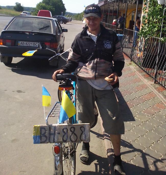 Велосипедист Василий