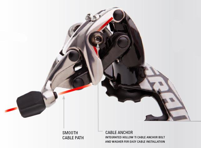 Задний переключатель новый 2012 SRAM Red – проводка кабеля