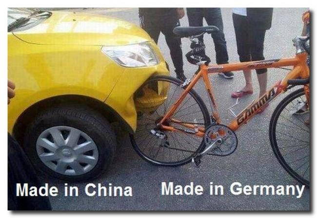 Китайские авто против немецких велосипедов