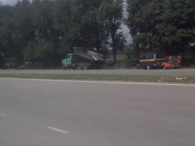 Украинские дорожные службы. Уборка дороги