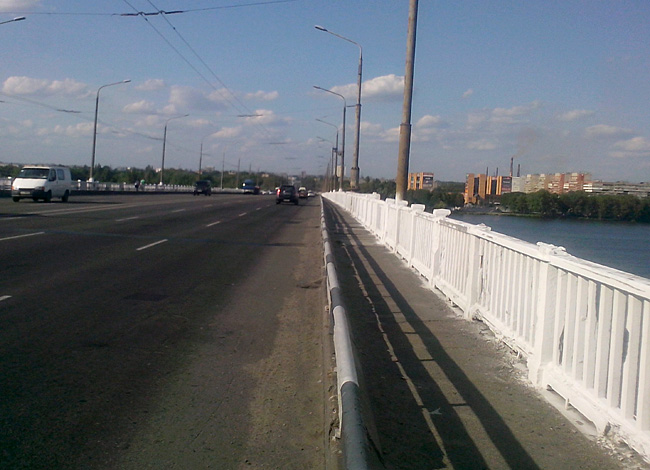 Днепропетровск, мостр через Днепр