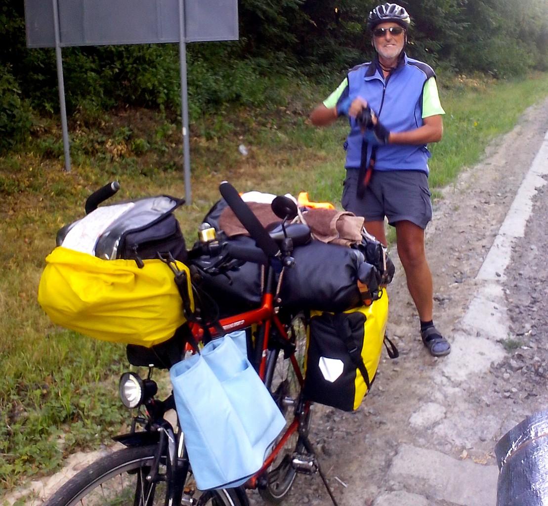 Велосипедный турист из Германии в Одессу