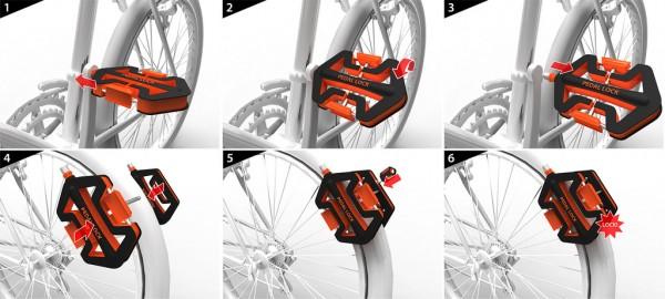 Pedal Lock Mounted Велосипедный замок Педаль. Прототип