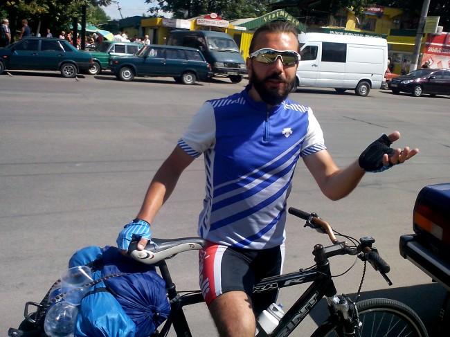 Велосипедист из Киеве Николай