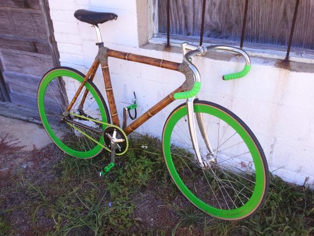 бамбуковый трековый велосипед