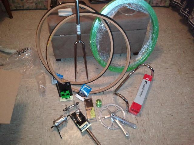 Компоненты будущего бамбукового велосипеда