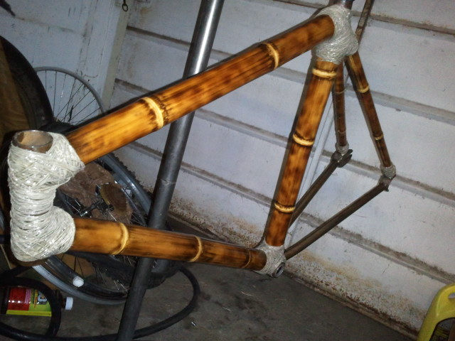 Велосипед из бамбука как сделать раму