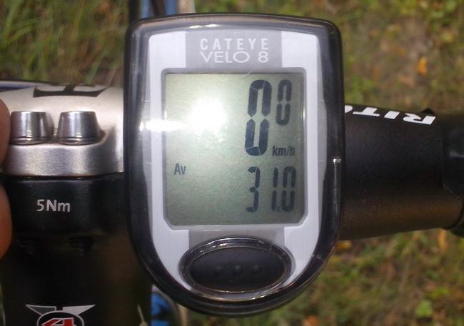 Средняя скорость – 31 км/час