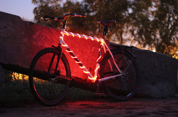 BIkeGlow Frame Light Bike Light-Red