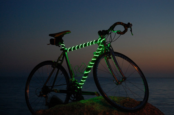 BikeGlow Frame Light Tail Light Combo Green
