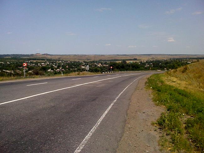 Луганская область, спуски и подъемы