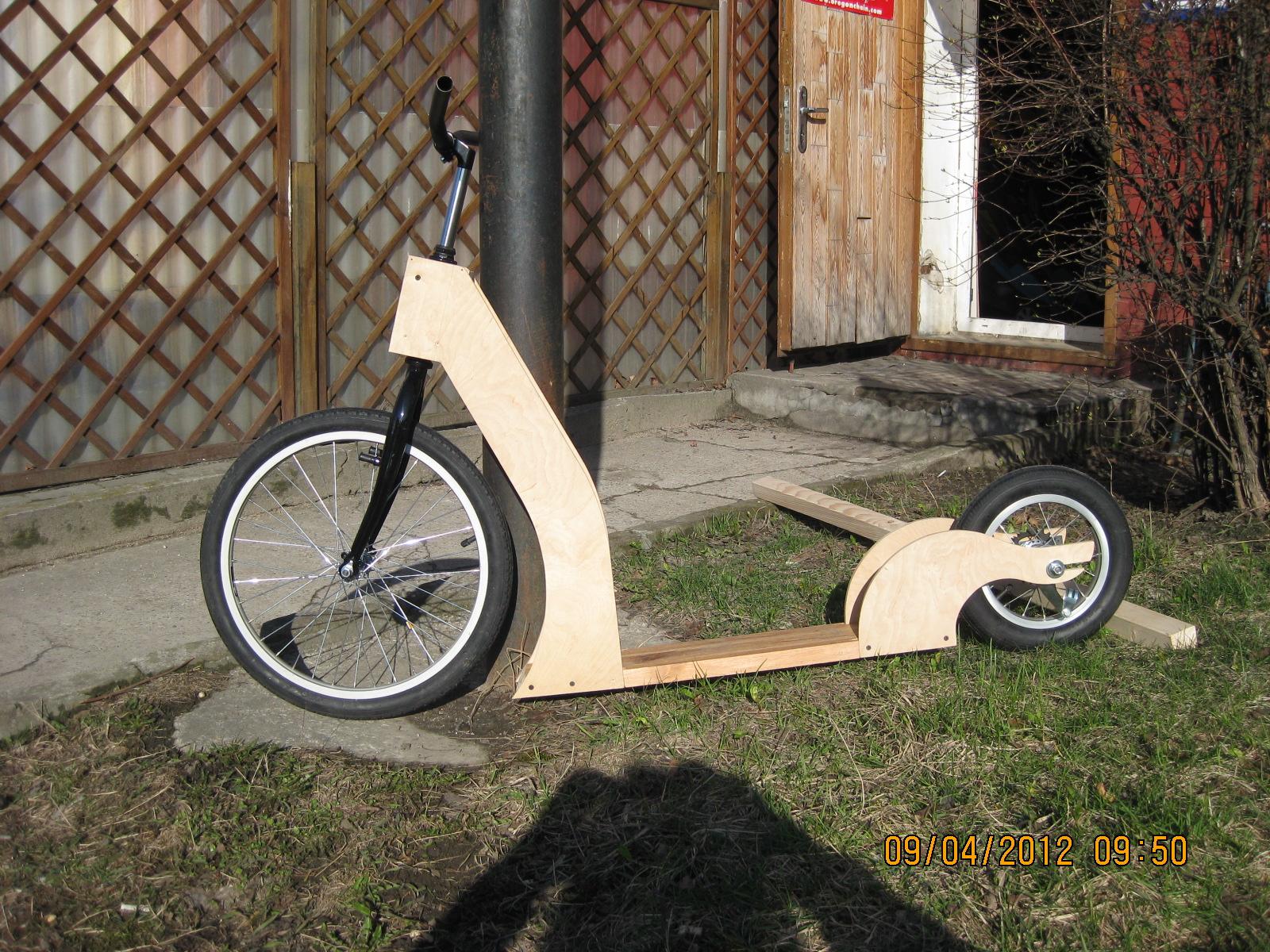 Велосипед своими руками из самоката