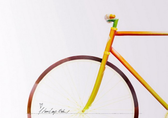 Велосипед из пищи