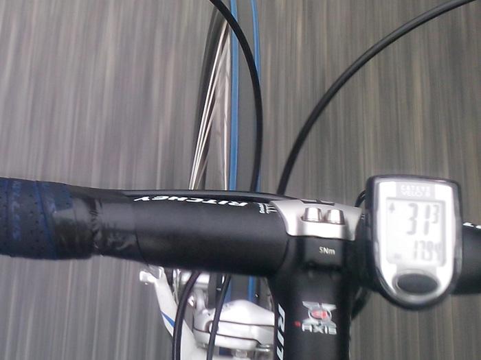 31 киломер в час на велосипеде