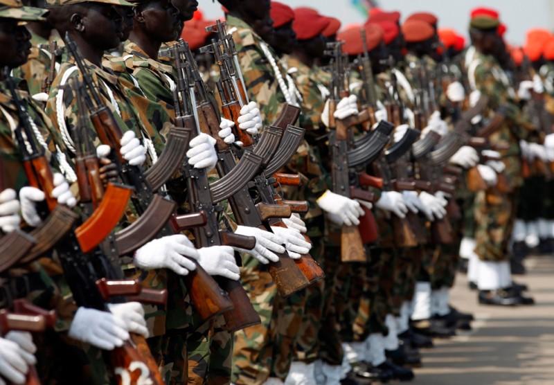 Солдаты Народной армии освобождения Судана