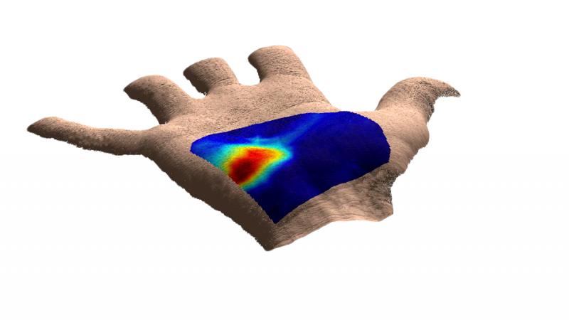 лазерное сканирование руки lazer scan jf cyclist's hand
